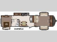 Floorplan - 2016 Keystone RV Sprinter 334FWFLS