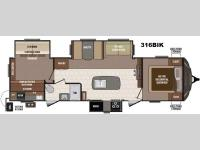 Floorplan - 2016 Keystone RV Sprinter 316BIK