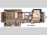 Floorplan - 2016 Highland Ridge RV Open Range Roamer RF347RES