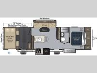 Floorplan - 2016 Keystone RV Carbon 33