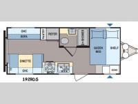 Floorplan - 2016 Dutchmen RV Coleman Lantern Series 192RDS