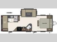 Floorplan - 2016 Keystone RV Summerland 2400BH