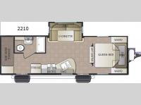 Floorplan - 2016 Pacific Coachworks Sea Breeze 2210