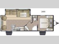 Floorplan - 2016 Pacific Coachworks Sea Breeze 2690