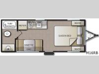 Floorplan - 2016 Pacific Coachworks Mighty Lite M16RB