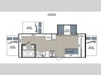 Floorplan - 2016 Dutchmen RV Kodiak Express 222ES