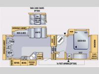 Floorplan - 2007 Jayco Eagle 291 RLTS