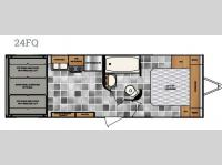 Floorplan - 2016 Winnebago Industries Towables Spyder 24FQ