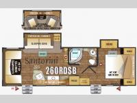 Floorplan - 2016 Outdoors RV Black Stone 260RDSB