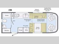Floorplan - 2016 Winnebago Trend 23B