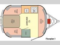 Floorplan - 2015 Scamp 13 Foot 13 Foot Layout 1