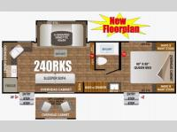 Floorplan - 2016 Outdoors RV Timber Ridge 240RKS