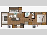 Floorplan - 2016 Outdoors RV Timber Ridge 260CIS