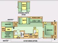 Floorplan - 2007 Jayco Jay Flight 31 BHS