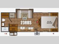 Floorplan - 2016 Outdoors RV Creek Side 23RBS
