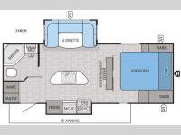 Floorplan - 2016 Jayco White Hawk 24RDB