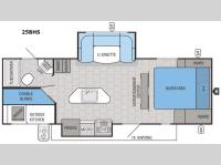 Floorplan - 2016 Jayco White Hawk 25BHS