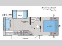 Floorplan - 2016 Jayco Jay Feather SLX 23RLSW