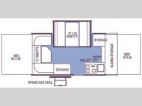 Floorplan - 2007 Forest River RV Rockwood Premier 2317G