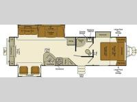 Floorplan - 2016 EverGreen RV Ever-Lite 31REW