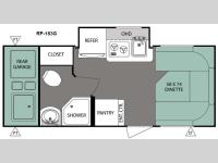 Floorplan - 2016 Forest River RV R Pod RP-183G