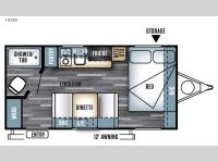 Floorplan - 2016 Forest River RV Salem Cruise Lite FS 185RB