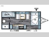 Floorplan - 2016 Forest River RV Salem Cruise Lite FS 195BH