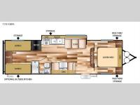 Floorplan - 2016 Forest River RV Salem Cruise Lite 281QBXL