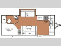 Floorplan - 2007 Coachmen RV Spirit of America 23 FKS
