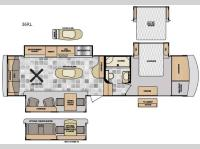 Floorplan - 2016 Winnebago Industries Towables Destination 36RL