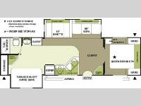 Floorplan - 2005 Forest River RV Flagstaff 831 BHSS
