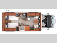 Floorplan - 2016 Leisure Travel Unity U24TB