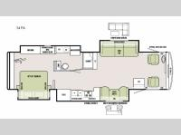 Floorplan - 2016 Tiffin Motorhomes Allegro 34 PA