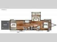 Floorplan - 2016 Forest River RV Cherokee Wolf Pack 25PACK12