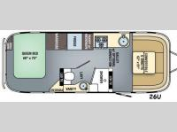 Floorplan - 2016 Airstream RV Flying Cloud 26U