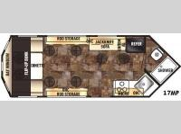 Floorplan - 2016 Forest River RV Cherokee Ice Cave 17MP