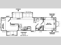 Floorplan - 2007 Forest River RV Wildwood LE 32BHDS