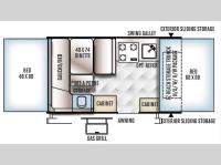 Floorplan - 2016 Forest River RV Flagstaff Sports Enthusiast SE 206STSE