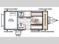 Floorplan - 2016 Forest River RV Rockwood Hard Side High Wall Series 212HW