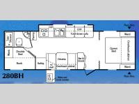 Floorplan - 2007 Keystone RV Passport 280BH