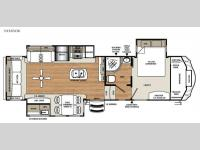 Floorplan - 2016 Forest River RV Sandpiper 343RSOK