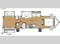 Floorplan - 2016 Forest River RV Vibe 322QBSS