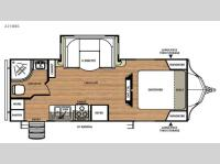 Floorplan - 2016 Forest River RV Vibe 221RBS