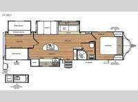 Floorplan - 2016 Forest River RV Vibe 312BHS