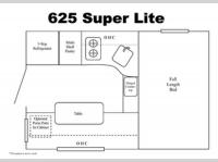 Floorplan - 2016 Travel Lite Truck Campers 625 Super Lite