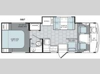 Floorplan - 2016 Holiday Rambler Admiral XE 26DT
