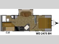 Floorplan - 2016 Heartland Wilderness 2475BH