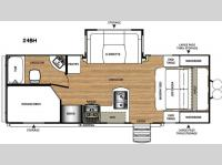 Floorplan - 2016 Forest River RV Salem Hemisphere Hyper-Lyte 27BH