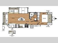 Floorplan - 2016 Forest River RV Wildwood Heritage Glen 272RL
