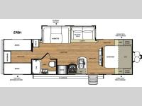 Floorplan - 2016 Forest River RV Wildwood Heritage Glen Hyper-Lyte 29BH